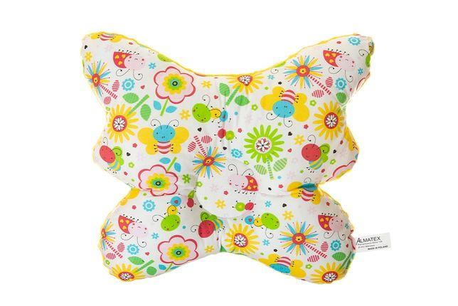 Poduszka dla niemowląt Motylek (kolory)