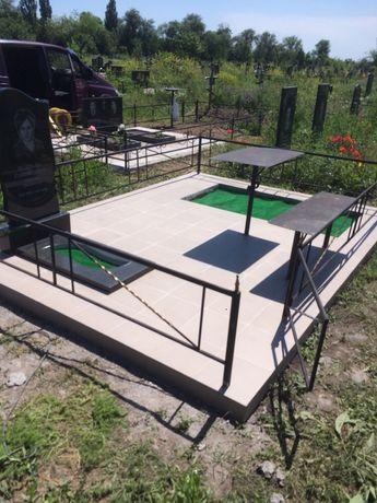 Облагораживание могилок,установка памятников,оградок,бетонировка