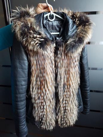 Курточка кожа, енот