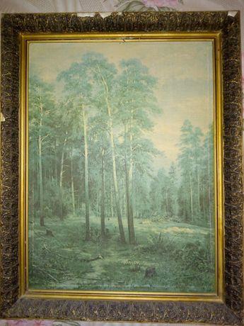 Продам старую картину лес