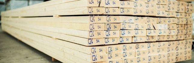 Drewno konstrukcyjne kantówka legar belki drewniane C24