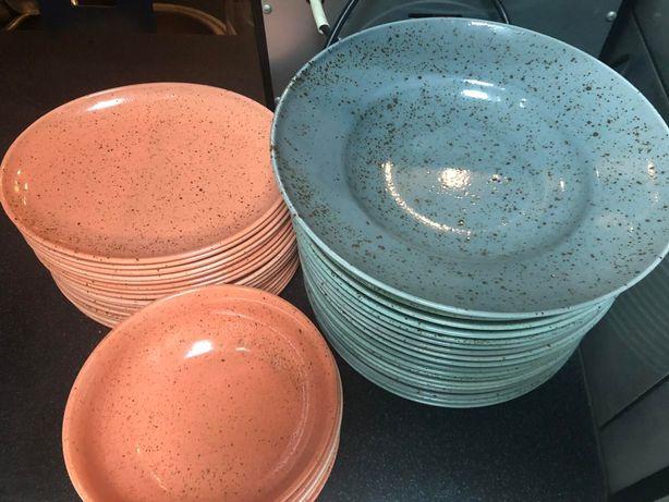 Посуда для бара, ресторана. Тарелки, бокалы, столовые приборы