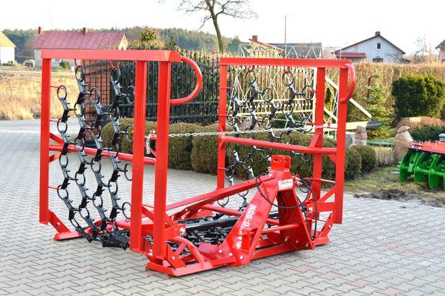 Włóka łąkowo-polowa Agro-Factory 6m. składana hydraulicznie.