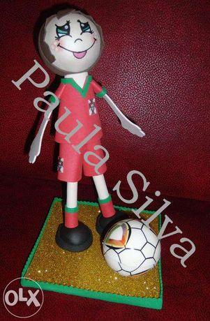 Boneco em E.V.A. Jogador de Futebol