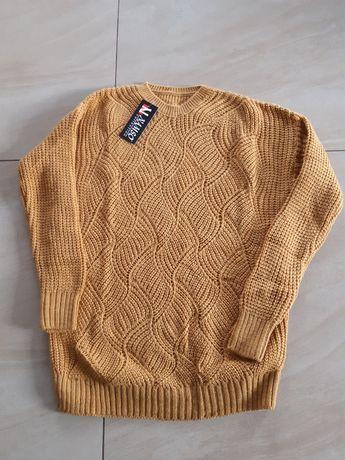 Sweterek musztardowy m/l