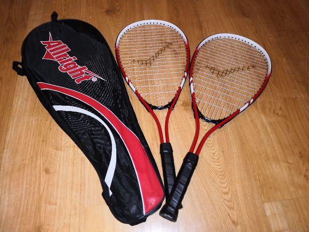 Dwie rakiety do tenisa ALLRIGHT + pokrowiec