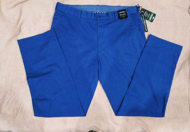 Nowe męskie spodnie materiałowe niebieskie W38 L33  r.46/48