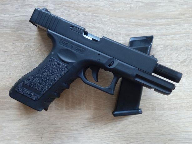 Страйкбольный пистолет Glock 17 C (предохранитель, затворная задержка)