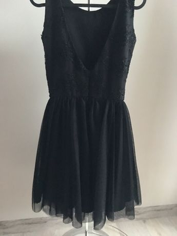Bardzo ładna sukienka XS, czarna