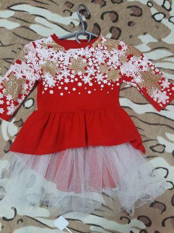 Платье для девочки новогодние