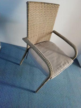 Krzesło na taras balkon imitacja wikliny