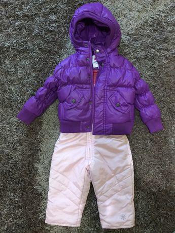 Пуховая куртка комбинезон Carters 80см