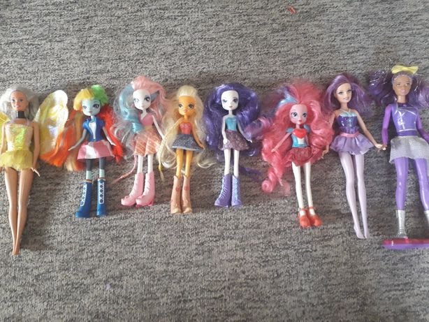 lalki barbie my Little pony zestaw lalek