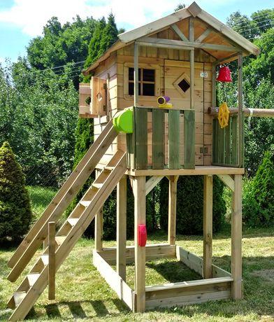 domek dla dzieci drewniany na podeście