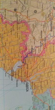Карта Украины на картоне