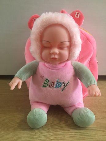 Рюкзак кукла мягкая игрушка пупс