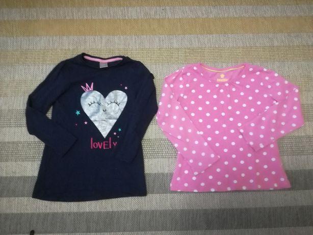 2 bluzeczki, roz. 110/116 i 116