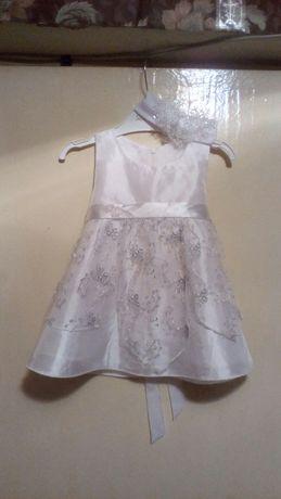 Платье на крестины и повязка