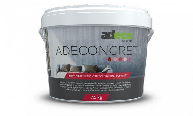 ADECONCRET Tynk dekoracyjny BETON 7,5 kg 1 warstwa