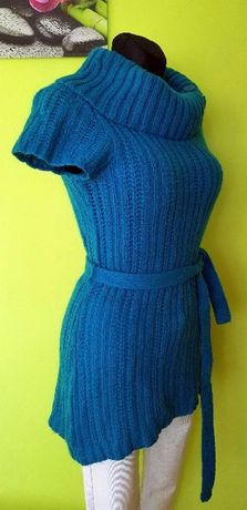 Sweter Tunika Ciepły Gruby r. 38