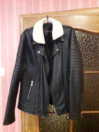 Куртка кожаная мужская р 52