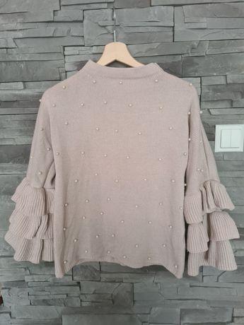 Śliczny Sweterek koraliki uni