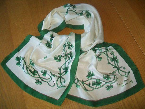 Винтажный шелковый шарф PATRICK FRANCIS