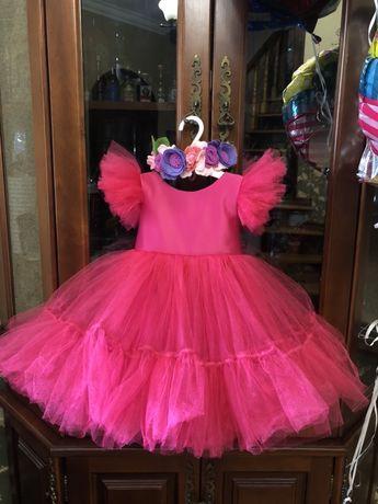 Платье на девочку, платье на годик, пишное платье,