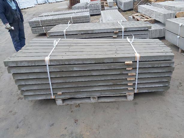 Słupki betonowe h-200cm zbrojone belką 5x5cm