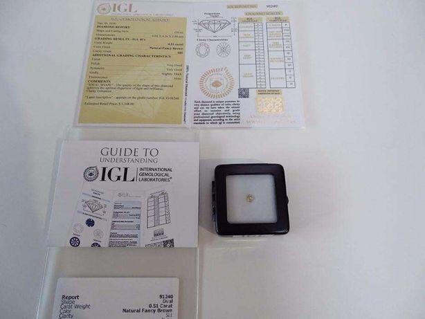 Piękny Diament 0.51 ct SI1. Certyfikat