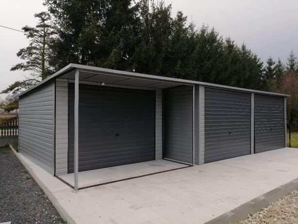 Garaże blaszane PRODUCENT blaszaki Rawa Mazowiecka wiaty różne wymiary
