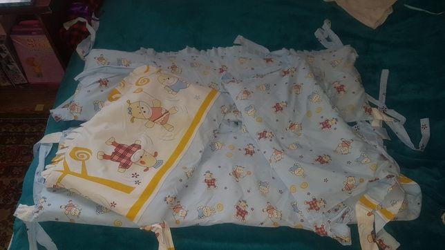 Защита в кроватку + карманы в Подарок!