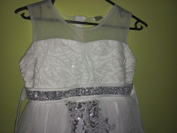 Śliczna suknia biała ślub wesele chrzest