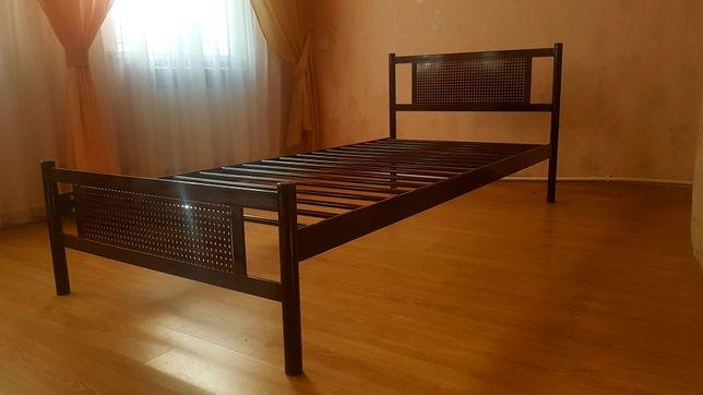 Металлическая кровать с металлическим каркасом односпальная 90×200