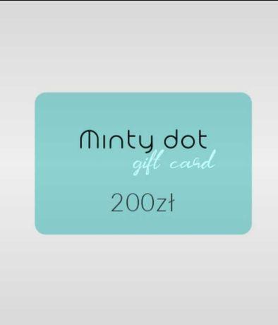200zł Minty Dot Bon Biżuteria Voucher Karta Podarunkowa / mintydot.pl