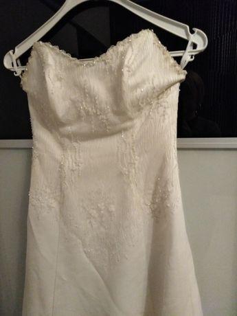 Suknia ślubna ecri rozm. S