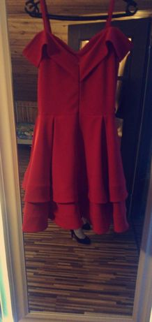 Czerwona sukienka sylwester Darmowa wysyłka !