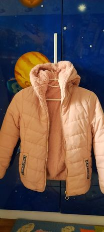 Демисезонная курточка двухсторонняя на девочку 8-10 лет