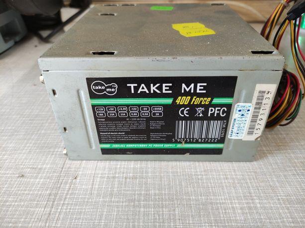 Zasilacz PC ATX TakeMe 400W Sata 24+4 Pin Sprawny + gratis