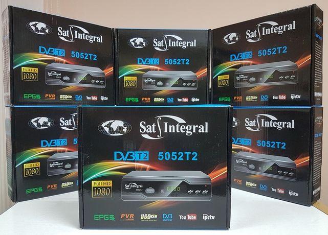 Цифровой эфирный тюнер приставка Т2 Sat-Integral 5052 T2 ресивер DVB-C