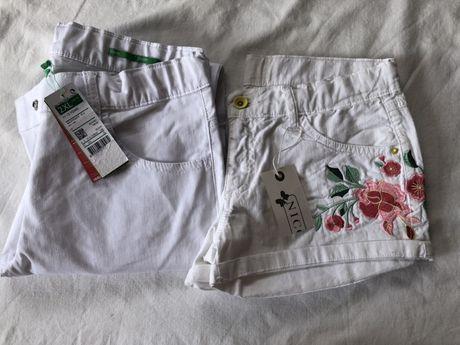Lote calçoes e calças brancas de menina
