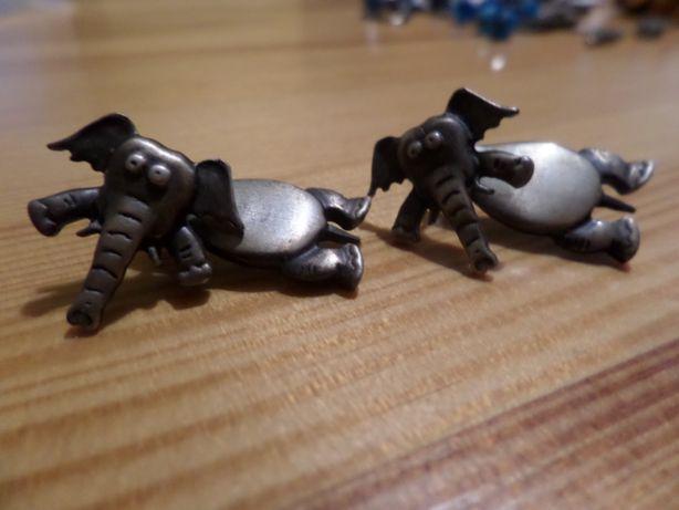 stare kolczyki słonie srebro posiadają obracającą się głowę sztyfty