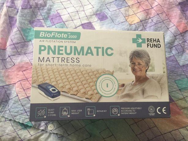 Materac przeciwodleżynowy bąbelkowy z pompą oraz materac do łóżka reha