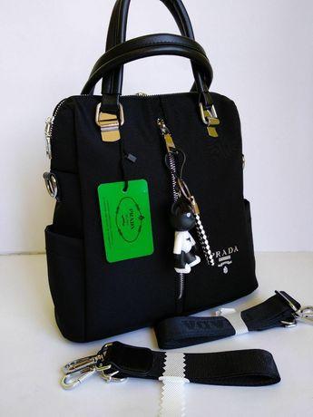 Рюкзак -сумка трансформер из текстиля