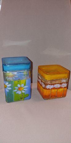 Комплект из 2х стеклянных банок для сыпучих