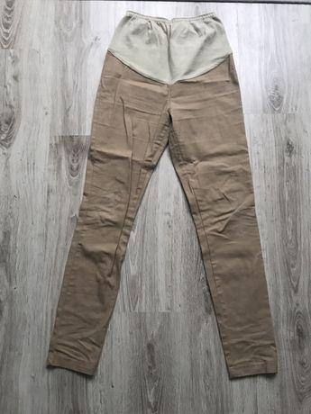 Spodnie ciażowe bezowe rozmiar s