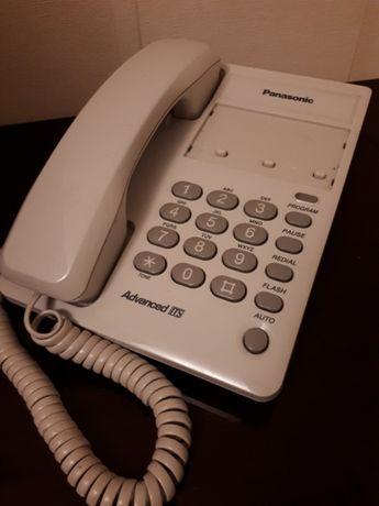 Продам телефон аппарат стационарный кнопочный panasonic белый