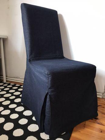 Krzesło tapicerowane jeans Ikea Henriksdal