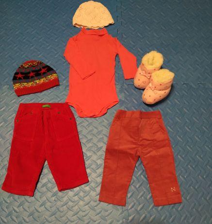 Гольфик со штанишками на девочку 6-9 месяцев