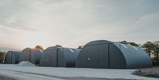 Hala łukowa wiata garaż 11,8 m x 12,5 m